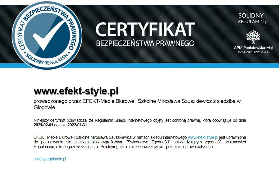 Certyfikat Bezpieczeństwa prawnego