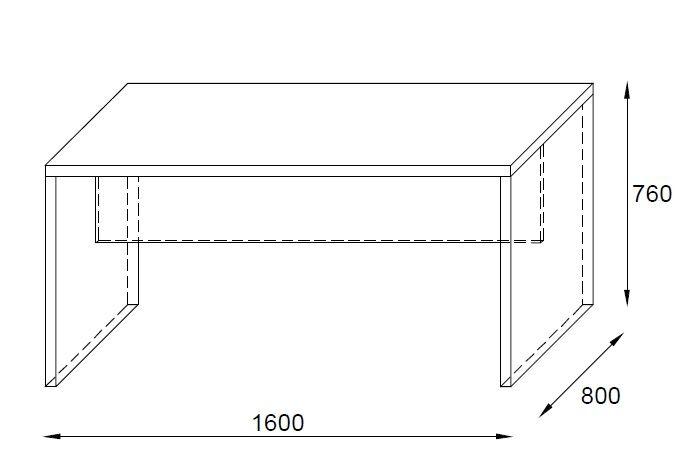 Biurko na stelażu płytowym
