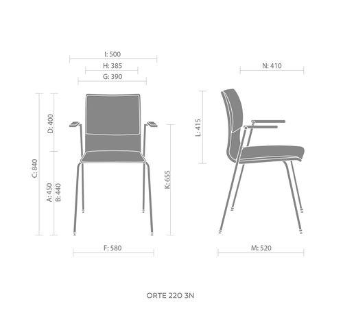krzesło obrotowe orte wymiary
