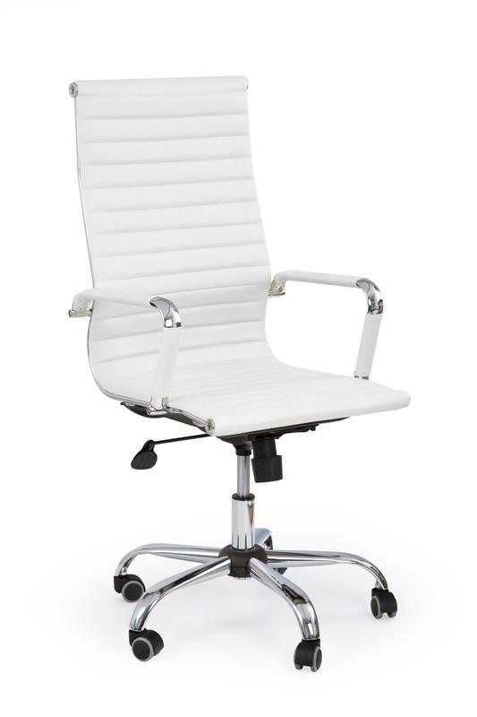 Krzesło obrotowe o nowoczesnym wyglądzie, w kolorze białym