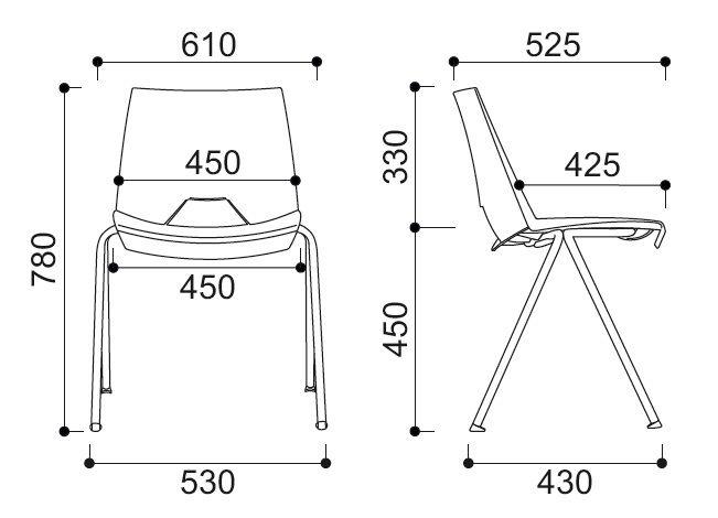 Krzesło konferencyjne biurowe STRIKE
