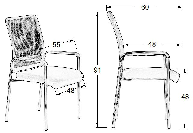 Krzesło konferencyjne dostawne