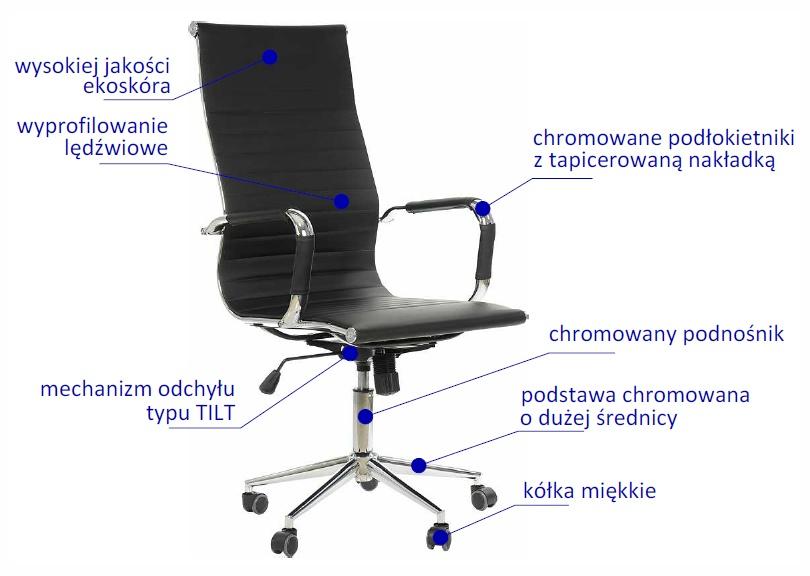 fotele obrotowe, fotele biurowe, fotel Universal NE632H
