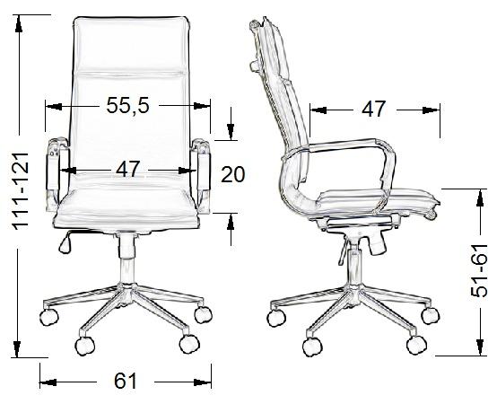 fotele obrotowe, fotele biurowe, fotel NE635
