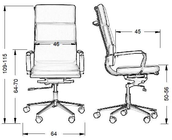 Fotel biurowy VALERA-wymiary