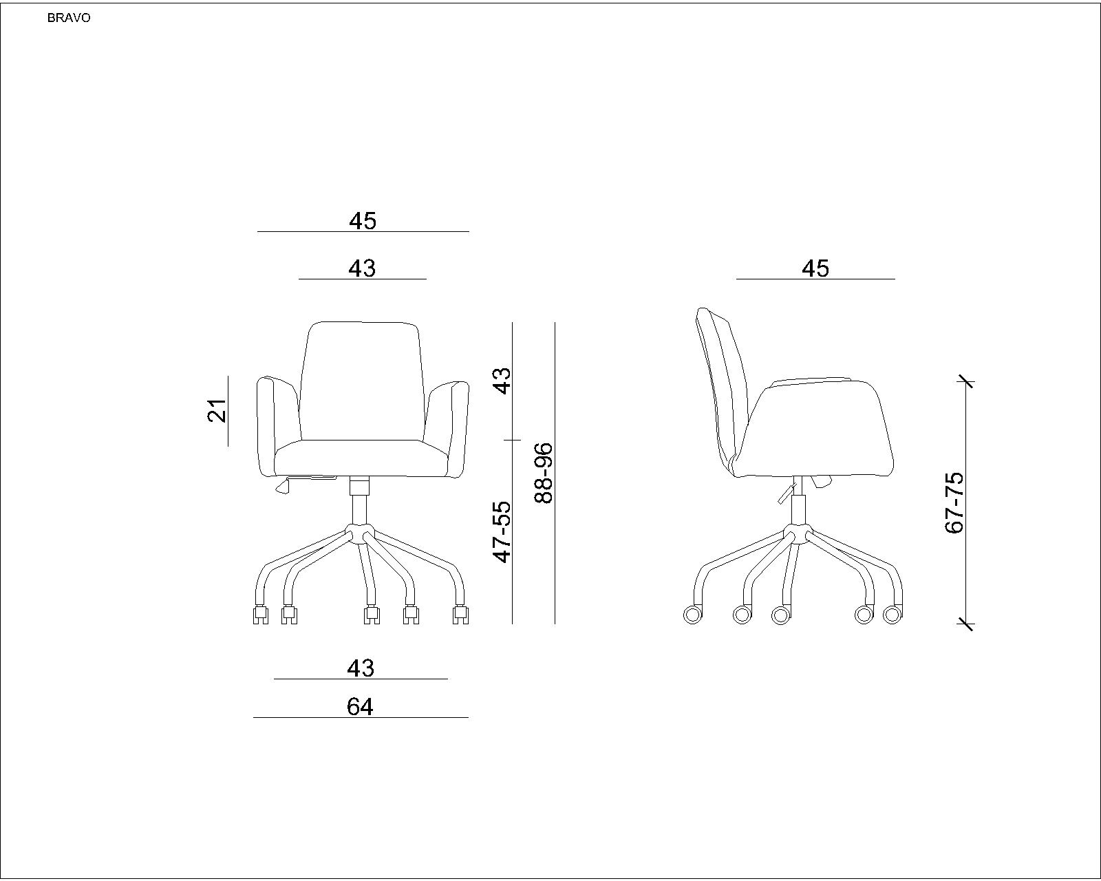 Krzesło konferencyjne obrotowe