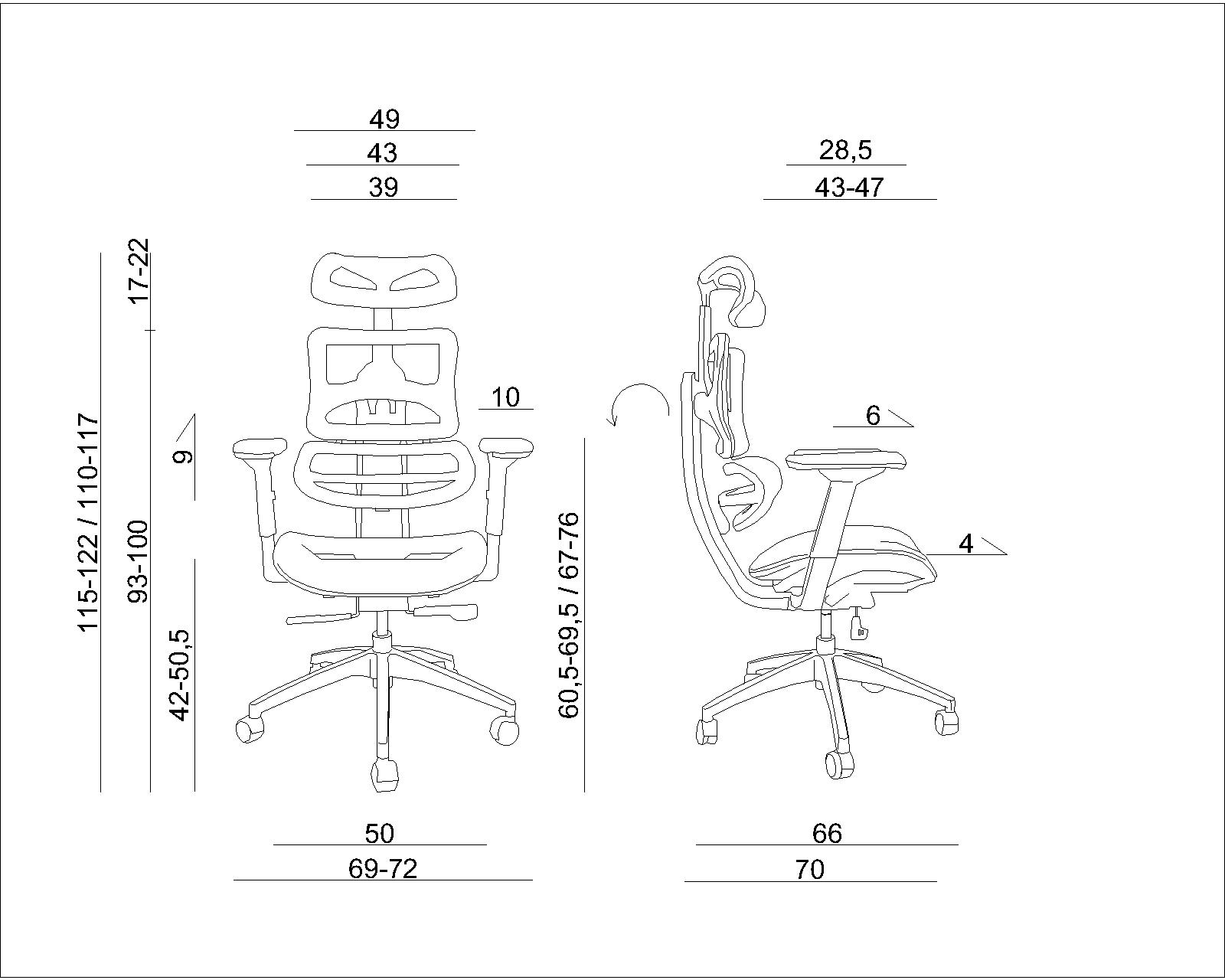 fotele obrotowe, fotele biurowe,
