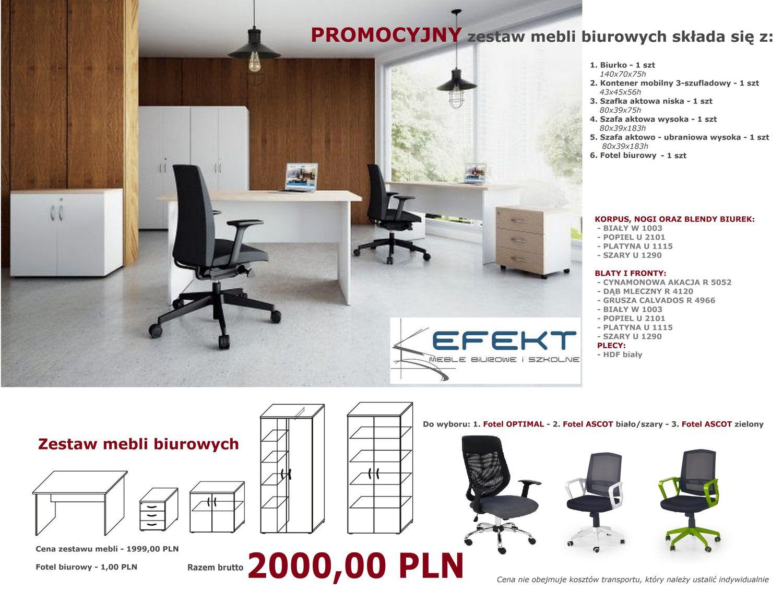 Meble biurowe PRIMUS - wysoki standard w promocyjnej cenie