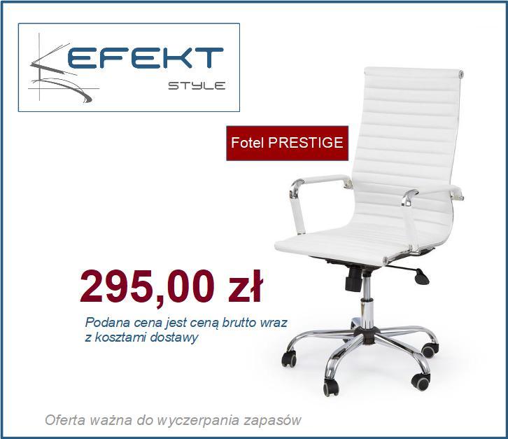 Fotel biurowy biały PRESTIGE