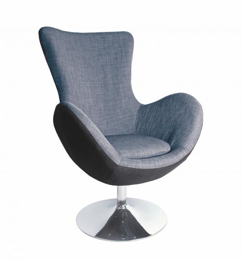 BUTTERFLY fotel wypoczynkowy czarno - popielaty (1p=1szt)