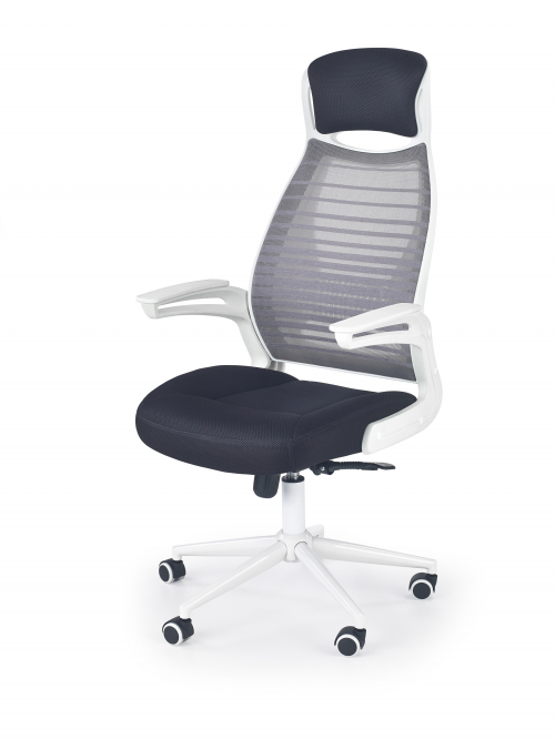 FRANKLIN fotel pracowniczy czarno-popielaty-biały (1p=1szt)