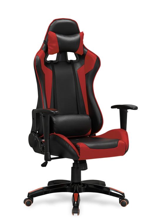 Fotel biurowy obrotowy DEFENDER czarno-czerwony