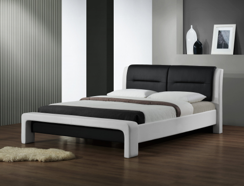 CASSANDRA 120cm łóżko biało-czarny (3p=1szt)