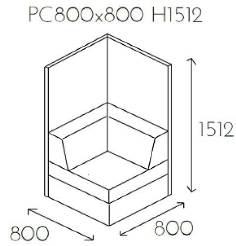 Siedzisko narożne PL@NET PC800x800 H1512
