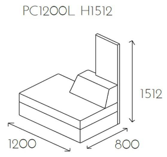 Siedzisko proste PL@NET PC1200L H1512