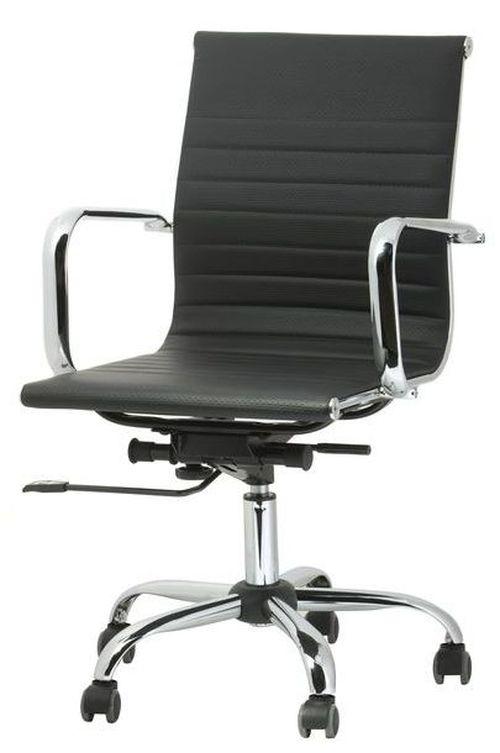 Fotel biurowy obrotowy UNIVERSE czarny - niski