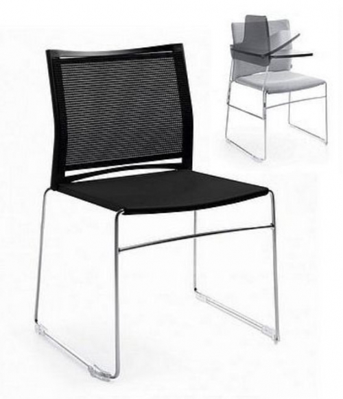 Krzesło biurowe konferencyjne ARIZ 555V na płozie z blatem