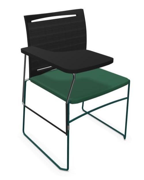 Krzesło biurowe konferencyjne ARIZ 575V na płozie z blatem