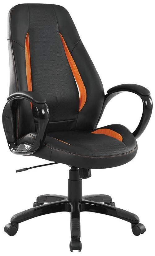 TIGER fotel gabinetowy czarno-pomarańczowy
