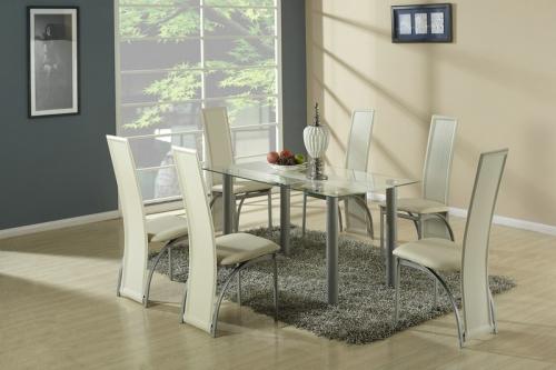 TALON stół bezbarwny z beżowym pasem (2p=1szt)