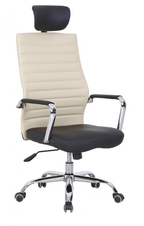 LEGOLAS fotel gabinetowy czarno-waniliowy
