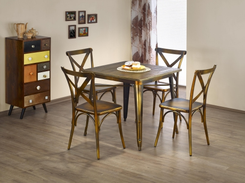 MAGNUM stół kwadrat yellow cooper (1p=1szt)