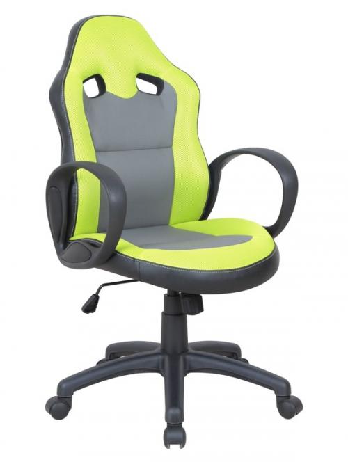SIGMA fotel gabinetowy seledynowo / popielaty