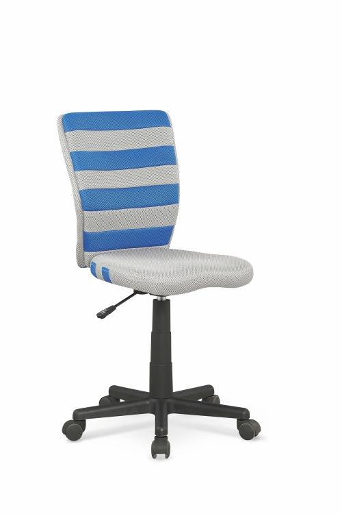 FUEGO fotel młodzieżowy niebiesko / popielaty
