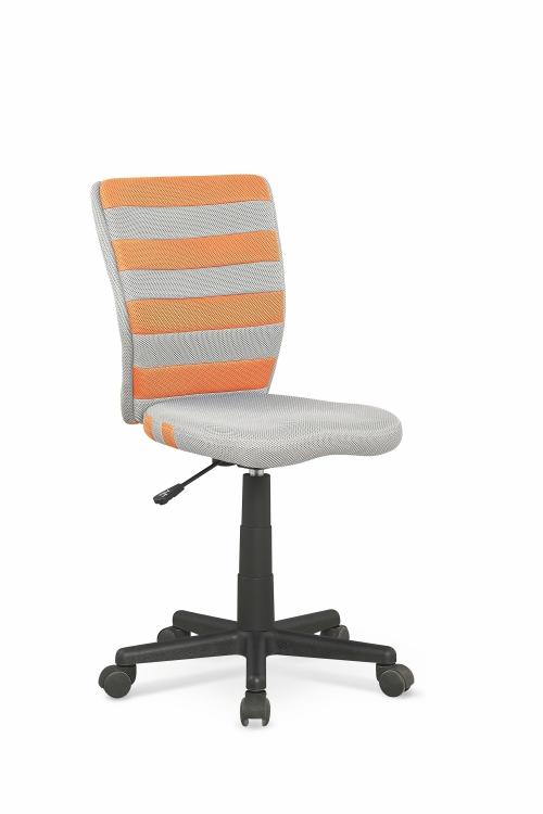 FUEGO fotel młodzieżowy pomarańczowo / popielaty