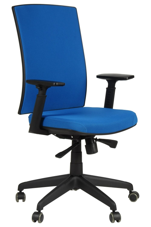 Fotel Biurowy Obrotowy EF-KB8922B niebieski - nylonowa podstawa