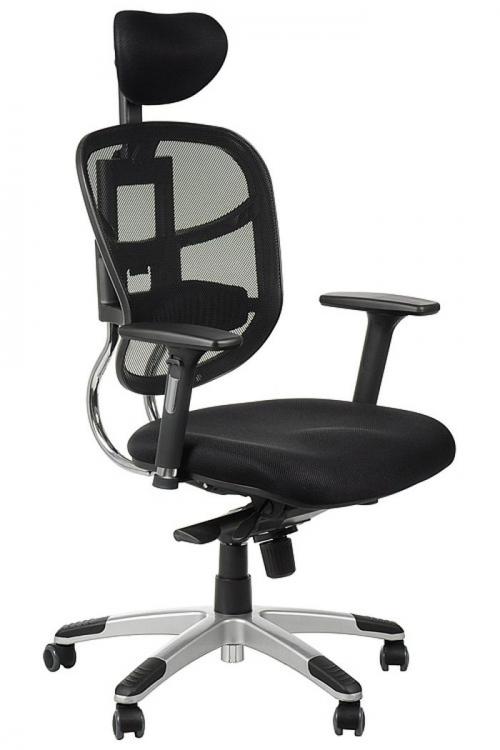 Fotel Biurowy Obrotowy EF-HN5018 czarny z wysuwem siedziska