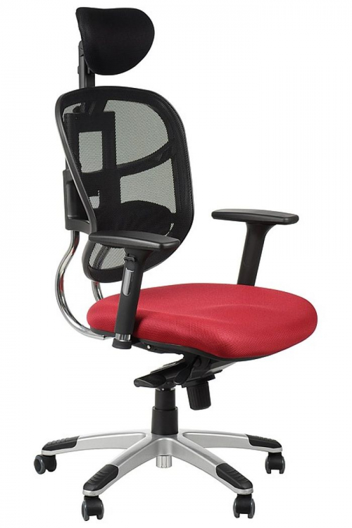 Fotel Biurowy Obrotowy EF-HN5018 bordo z wysuwem siedziska