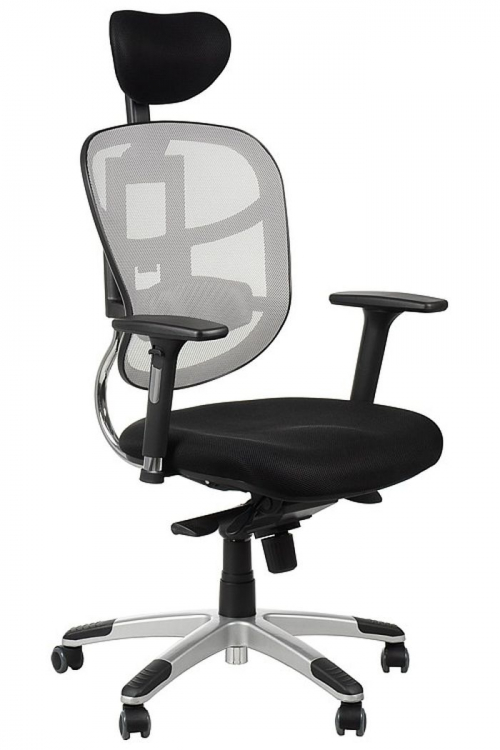 Fotel Biurowy Obrotowy EF-HN5018 szary z wysuwem siedziska