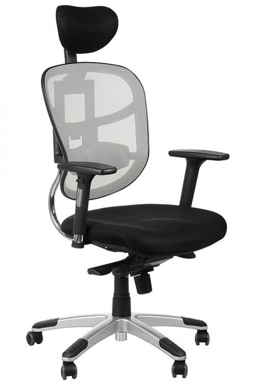 Fotel Biurowy Obrotowy HN5018 szary z wysuwem siedziska