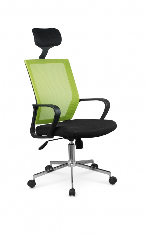 ACAPULCO fotel pracowniczy czarny / zielony