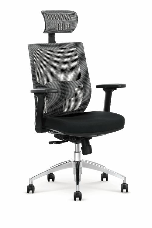 ADMIRAL fotel gabinetowy popielato / czarny
