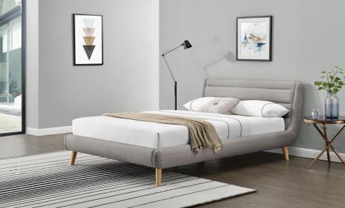 ELANDA 140cm łóżko jasny popiel