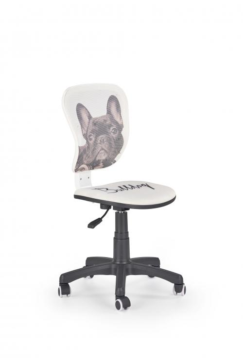FLYER bulldog fotel młodzieżowy biało - czarny