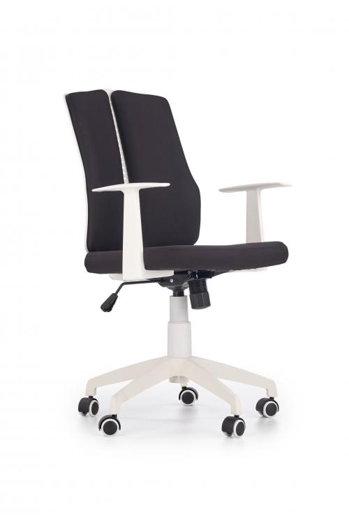 IRON 2 fotel pracowniczy biało - czarny