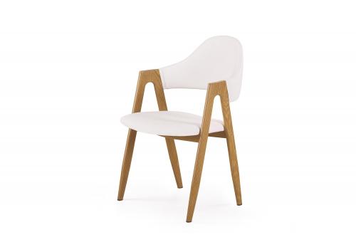 K247 krzesło biały-dąb miodowy (1p=2szt)