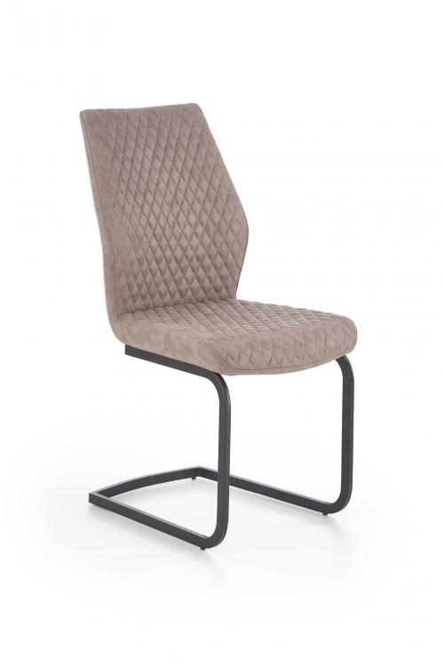 K272 krzesło ciemny beż DALLAS / czarny