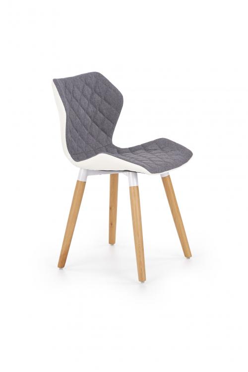 K277 krzesło biało / popielate (1p=2szt)