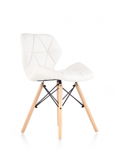 K281 krzesło biały / buk