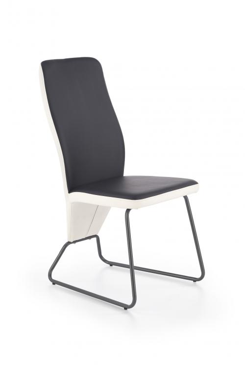 K300 krzesło tył - biały, przód - czarny, stelaż - super grey