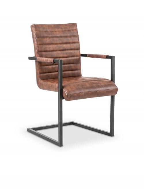 K302 krzesło brązowy / czarny