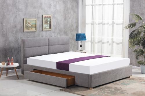 MERIDA łóżko z szufladą jasny popiel