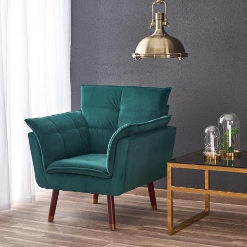REZZO fotel wypoczynkowy ciemny zielony