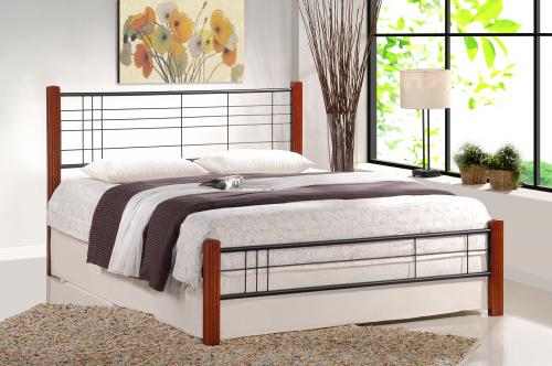 VIERA łóżko 160 cm czereśnia ant./czarny (3p=1szt)