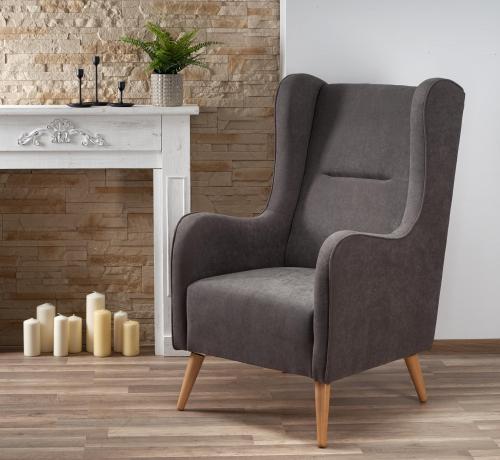 CHESTER fotel wypoczynkowy ciemny popiel ( LIRA-1213 )
