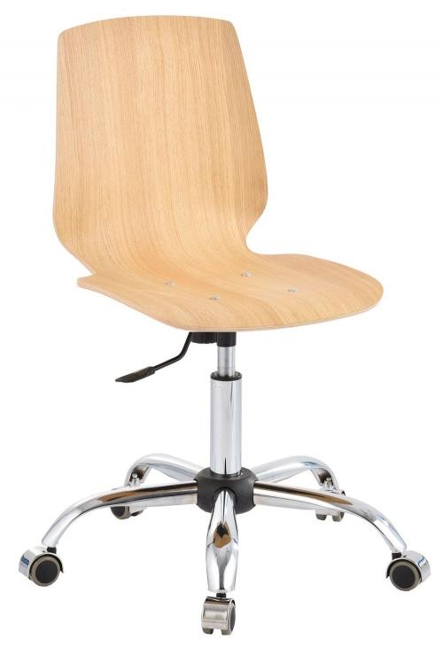 Krzesło laboratoryjne niskie sklejka chrom